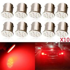 10Pcs Super Bright 1156 BA15S COB LED Bulb Car Rear Turn Signal Light DC 12V Red