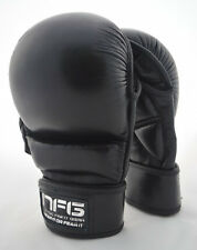 Havoc 7-oz Leather Semi Pro Gloves Hybrid Cage Fighting MMA Grappling Sparring