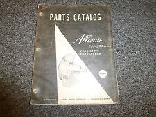 Allison TC248 TCA247 TC324 TC325 TCRD326 Torque Converter Parts Catalog Manual