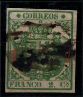 P133213/ SPAIN – COAT OF ARMS - EDIFIL # 32 USED CERTIFICATE – CV 785 $