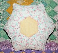 Accent Pillow From Vintage 1930s Six Point Star Farmhouse Feedsack Quilt FSS-04
