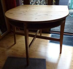 IKEA LEKSVIK Tisch , Beistelltisch Halbrund zum ausklappen , Breite 100cm , Holz