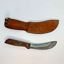 Vintage Herter's Fixed Blade Skinner Hunting Knife With Leather Sheath
