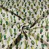 Tessuto Al Taglio-Al Metro Cotone Fantasia Cactus Verde Cuscini Tavola Alt.2,80