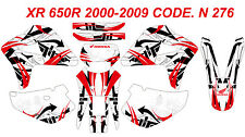 N 276 HONDA XR 650R 2000-2009 Autocollants Déco Graphics Stickers Decals Kit