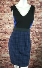 Bailey 44 Blue Black Plaid Sheath Dress Size L