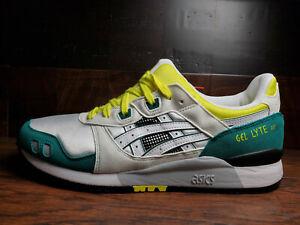 Asics GEL-Lyte III OG 30th (White / Green / Yellow) 1191A266-100 Mens 8-13