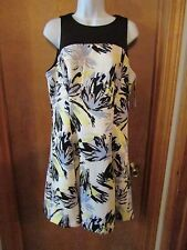 """Ladies """"Chaps"""" Size 14, Black/Multi Color, Sleeveless, Fit & Flare, Casual Dress"""