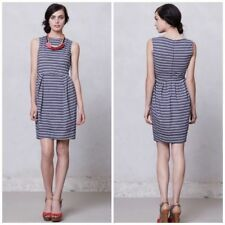 Karen Walker Runaway Anthropologie Blue Striped Tulip Dress Size 8 Sleeveless