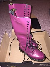 NEW Dr. Martens PINK Shimmer Tall Boots UK 5, EUR 38, US mens 6, US ladies 7