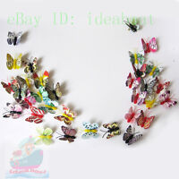 10/20/50/100PCS MIXED Refrigerator Magnets NOCTILUCENT BUTTERFLY Wingspan 9cm
