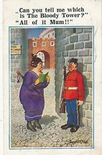 POSTCARD   COMIC  DONALD McGILL  Guard  Bloody  Tower
