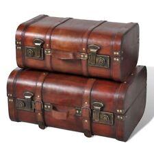 vidaXL vidaXL Set 2 pz Baule in legno vintage marrone