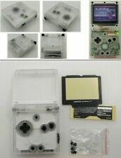GBA SP Game Boy Advance SP Replacement Housing Shell Screen Transparent Clear