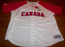 WOMEN'S CANADA WORLD BASEBALL STITCHED JERSEY 2XL NEW