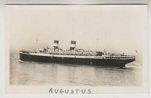 Shipping postcard - SS Augustus, Italian Line (A332)