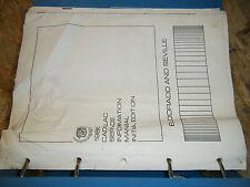 1986 CADILLAC ELDORADO SEVILLE ORIGINAL FACTORY SERVICE MANUAL BINDER EDITION