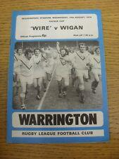 14/08/1974 programma Rugby League: Warrington V Wigan [Locker COPPA] (Piegati). IT