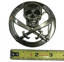 silver star belt buckle skull pirate
