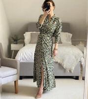 Zara AW2020 Printed Long Shirt dress TRF Greens Size M BNWT Bloggers Fave