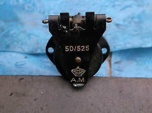 ww2 raf spring socket with cover flap pt 5d/525 for panel am  and crown