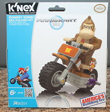 NIB! New! K'NEX Nintendo Mario Kart Donkey Kong Bike Set (34 pcs; #38148) Age 6+