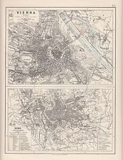 1921 MAP ~ ENVIRONS OF VIENNA WIEN & ROME