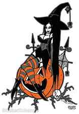 Halloween Witch Sticker Decal Artist Eric Pigors PG25