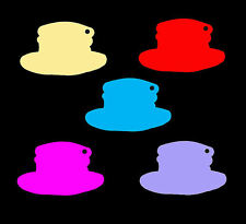 Medium Hat Shaped Price Tag Labels Display Swing Tickets. Favours. All Colours