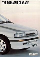 Daihatsu Charade 1987-89 UK Market Sales Brochure GTti Diesel Turbo CX CS