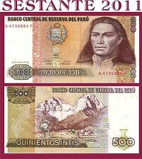 PERU   -     500 INTIS 26.6. 1987   -     P 134b   -     FDS / UNC