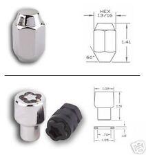 Lug Nut & Lock Set Chrome 12mm X 1.25 Conical New 2E