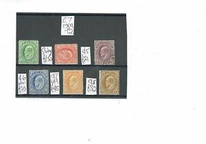 V311 Falkland Islands 1904-12 E7 M&U values to 1s on 1card c£130+ (6)