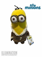 """Despicable Me Minion 2 Eyes Bob in Brown Coat 12"""" Plush Soft Toy - Illumination"""