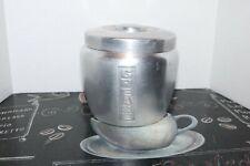 Vintage aluminum kitchen grease jar canister fat/lard storage