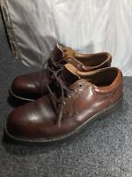 Dockers brown leather mens shoes oxford lace up 9.5 oil resistant soles