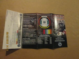 CFL Toronto Argonauts Vintage 2001 Let's Rock The Boat Season Ticket Brochure