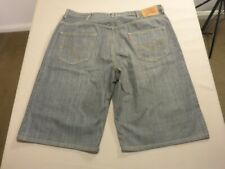 069 MENS EX-COND LEVI'S 569 LOOSE STR8 GREY DENIM SHORTS SZE 38 $100 RRP.
