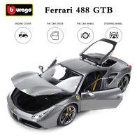 Bburago 1:18 Ferrari 488 GTB Diecast Model Sports Racing Car HANDCOVER IN BOX