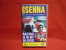 ARYTON SENNA RACING IS IN MY BLOOD F1 VHS VIDEO VGC FORMULA ONE LEGEND