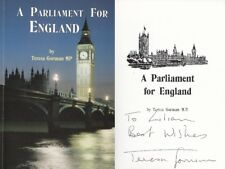 TERESA GORMAN MP - Parliament For England Book - PERSONALLY SIGNED TO LILIAN