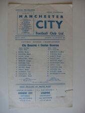 Everton Football Reserve Fixture Programmes (1960s)