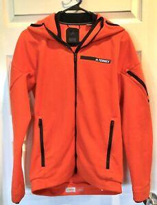 ADIDAS Climaheat Terrex Ultimate Hoodie Jacket Energy Orange BS2534 Mens S EUC
