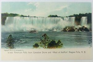 Vintage Niagara New York Niagara Falls American Falls View from Canada 1905 938