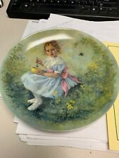 """Reco Knowles Plate """"Little Miss Muffet"""" by John McClelland 1981 Mother Goose."""