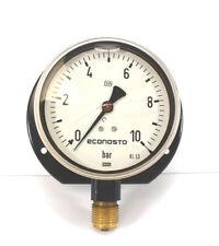 """WIKA Econosto Manometer, Glycerin, 0-10 bar, Ø 100 mm, senkrecht G 1/2"""""""