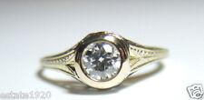 Antique Vintage Diamond Engagement Ring 18K 14K Yellow Gold Ring Size 7 EGL USA