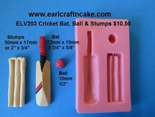 Cricket Set Mould for Cake Decorating Gum Paste Cake Decorating cpcakes