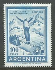 ARGENTINA. 1969. 100 Peso Ski Jumper. Watermark Multiple Arms. SG: 1250. MNH.