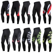 Uomo Bike Ciclismo MTB Protettiva Imbottita Lunghi Pantaloni Sportswear Outdoor